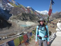 Squinting in the sun above Manang.
