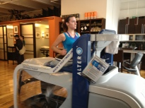 8 miles at warp speed on the Alter G—engage!