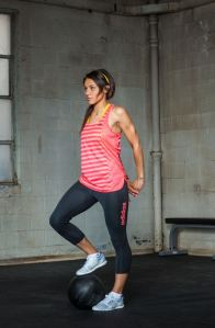 adidas Boyfriend Stripe Tank ($28) and Three-Quarter Tight ($50).