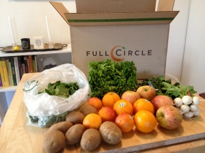 Hello, variety! Baby turnips win the prize for most unusual item in this week's Full Circle box.