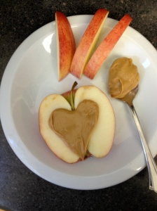 I heart peanut butter on apples, in oatmeal, and with dark chocolate!
