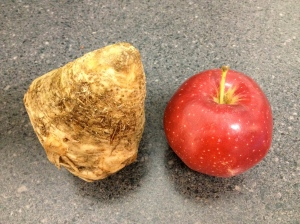 Here I go, comparing apples and celery root again.