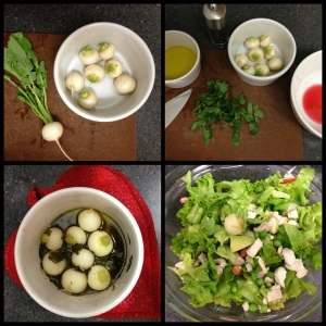 Soft and tangy, baked baby turnips are perfect in a dinner salad.