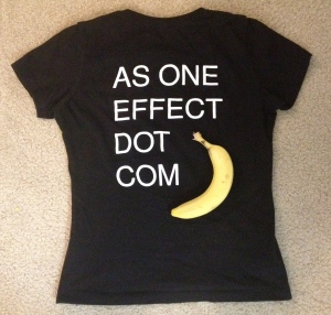 It's amazing how a t-shirt and some bananas can kick off a conversation about the ego.