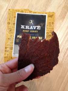 Here's the beef! Every piece of Krave Jerky looks like fresh meat—'cause that's what they use to make it, natch.