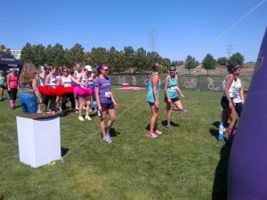 My solo start at the Pretty Muddy 5K in Sacramento, CA.