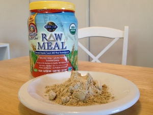 Sometimes I mix Garden of Life Raw Meal into organic whole milk, which defeats the whole vegan thing but tastes incredible!