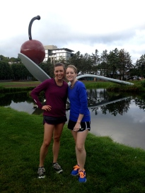 Sunday morning post-run snapshot in the Minneapolis Sculpture Garden with Brittney. This woman is on her way to becoming the most-asked-for PA—she's still in school and already has job offers!