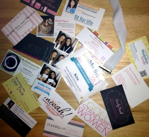 Just a few of the business cards I collected at Healthy Living Summit 2013